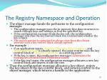 the registry namespace and operation79