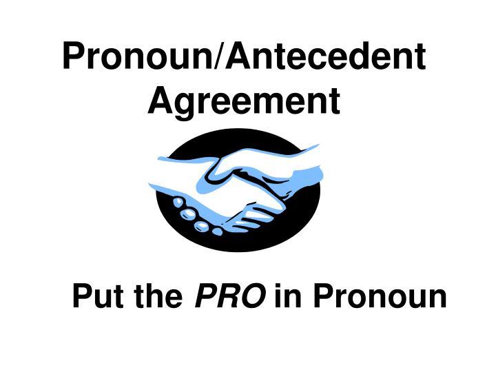 pronoun antecedent agreement n.