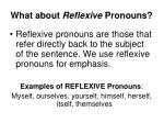 what about reflexive pronouns