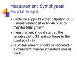 measurement symphyseal fundal height