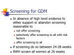screening for gdm