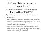 2 from plato to cognitive psychology13