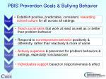 pbis prevention goals bullying behavior