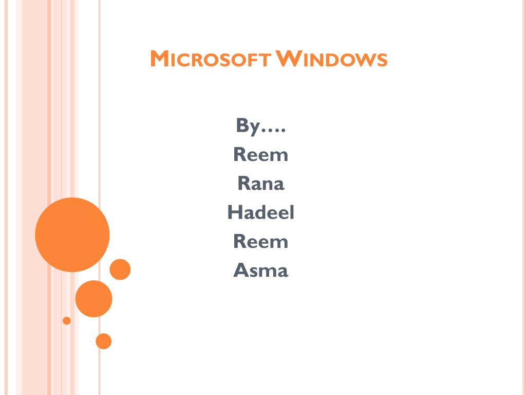 microsoft windows l.