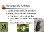 monogastric animals