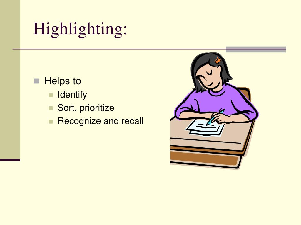 Highlighting: