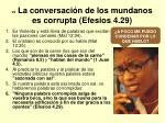 vii la conversaci n de los mundanos es corrupta efesios 4 29