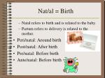 nat al birth