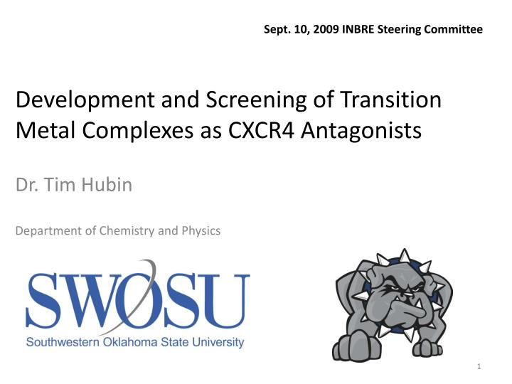 development and screening of transition metal complexes as cxcr4 antagonists n.