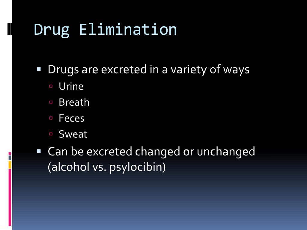 Drug Elimination