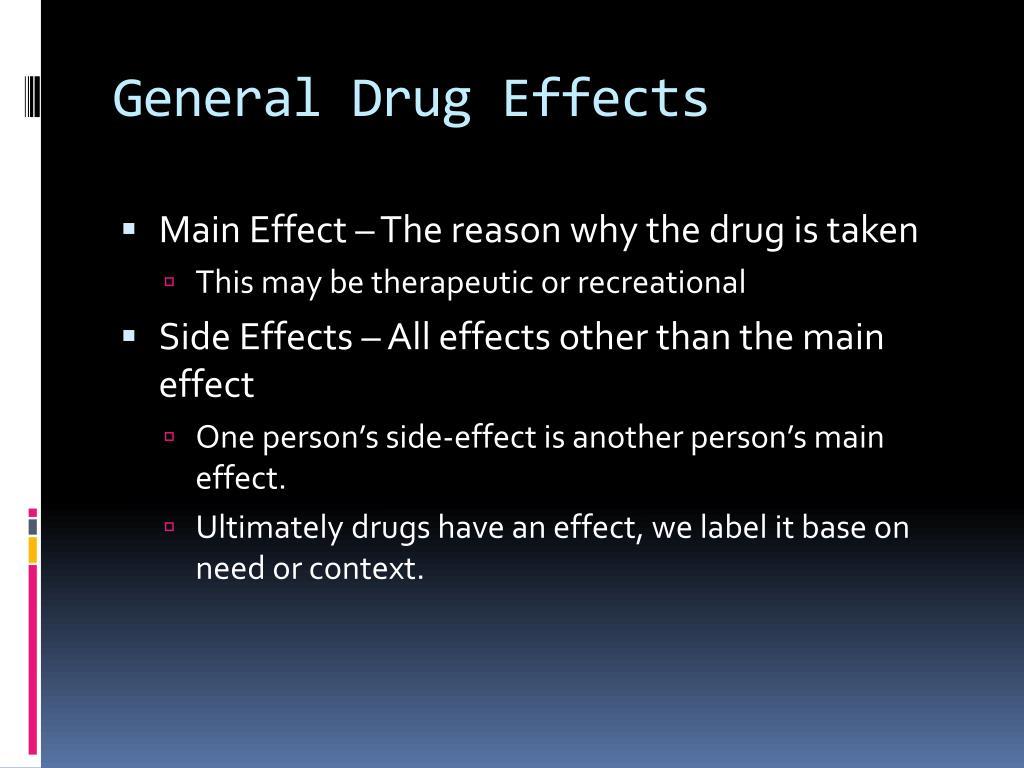 General Drug Effects