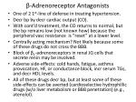 adrenoreceptor antagonists