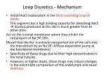 loop diuretics mechanism