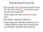 thiazide diuretics cont d