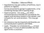 thiazides adverse effects