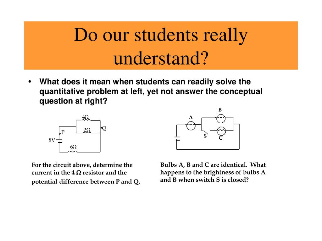 Do our students really understand?
