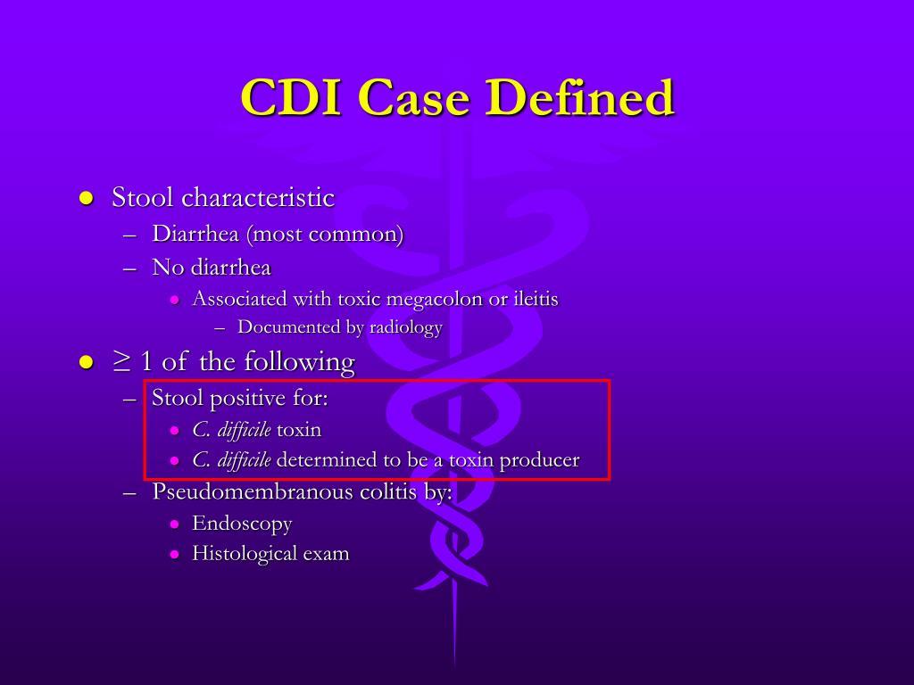 CDI Case Defined