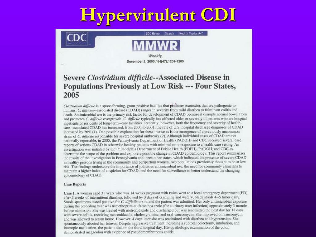 Hypervirulent CDI
