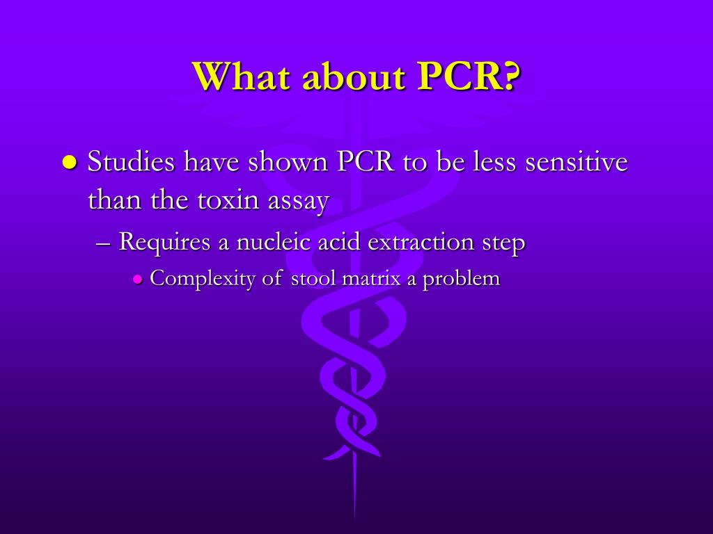 What about PCR?