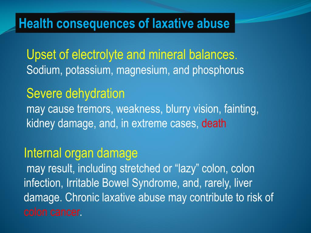 Health consequences of laxative abuse