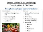 lower gi disorders and drugs constipation diarrhea20