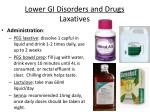lower gi disorders and drugs laxatives25