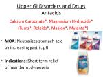 upper gi disorders and drugs antacids