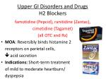 upper gi disorders and drugs h2 blockers