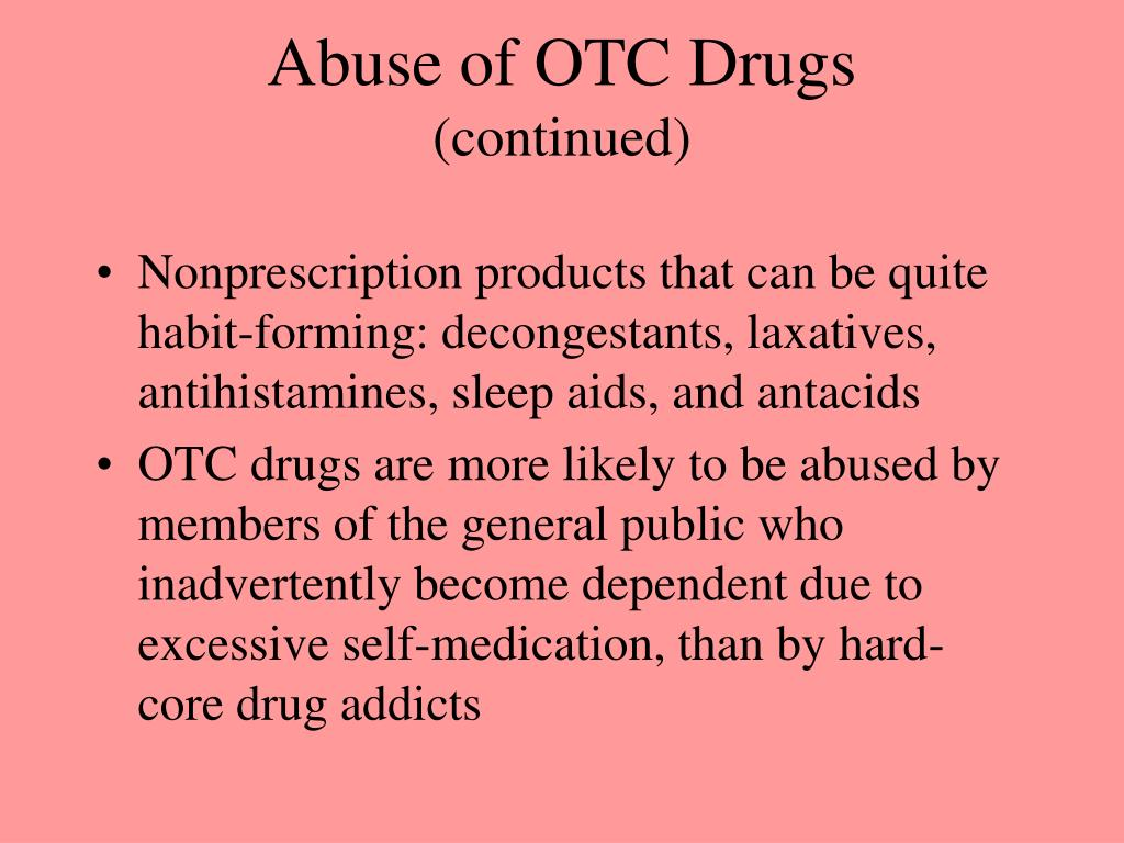 Abuse of OTC Drugs