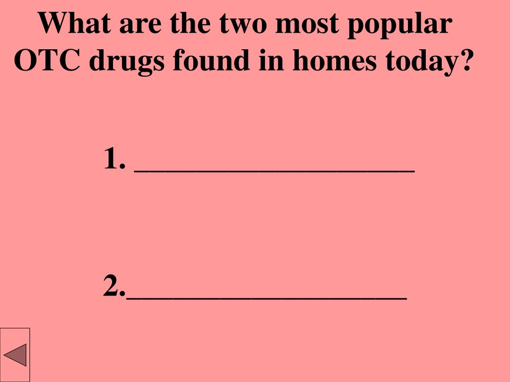 What are the two most popular OTC drugs found in homes today?