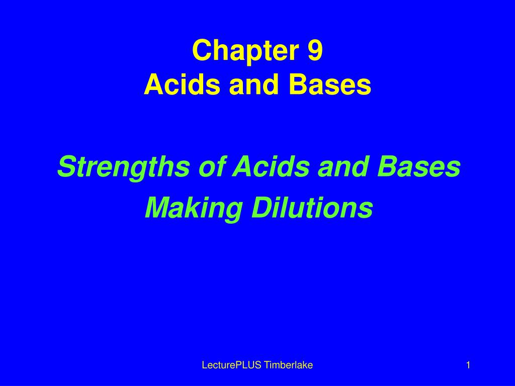 chapter 9 acids and bases l.