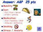 answer a p 25 pts