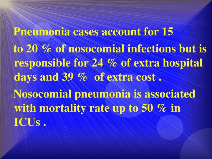 Pneumonia cases account for 15