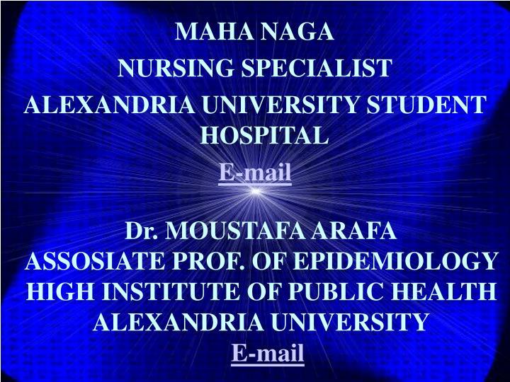 Dr. MOUSTAFA ARAFA
