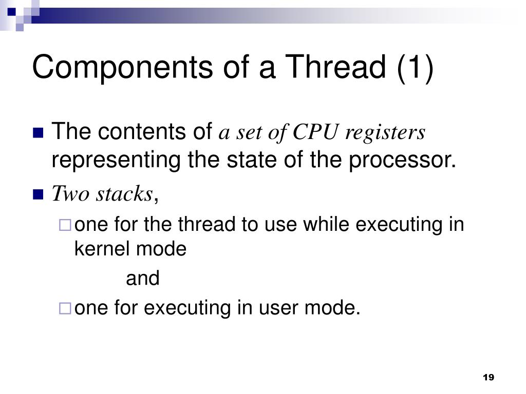 Components of a Thread (1)