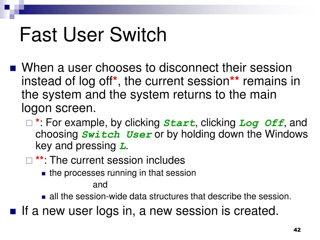 Fast User Switch