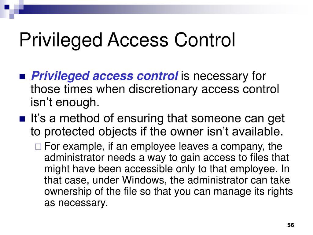 Privileged Access Control