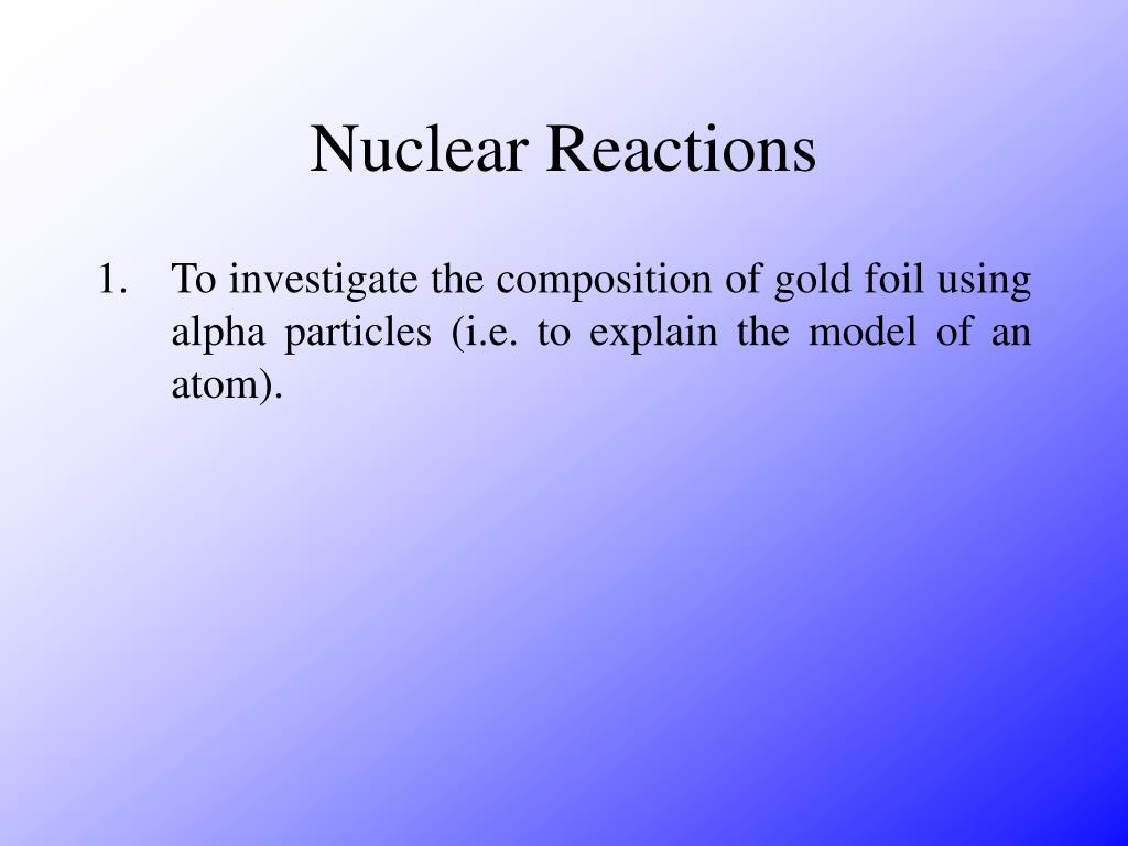 nuclear reactions l.