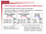 can i connect a sign convention to emf series