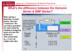 what s the difference between the galvanic series emf series