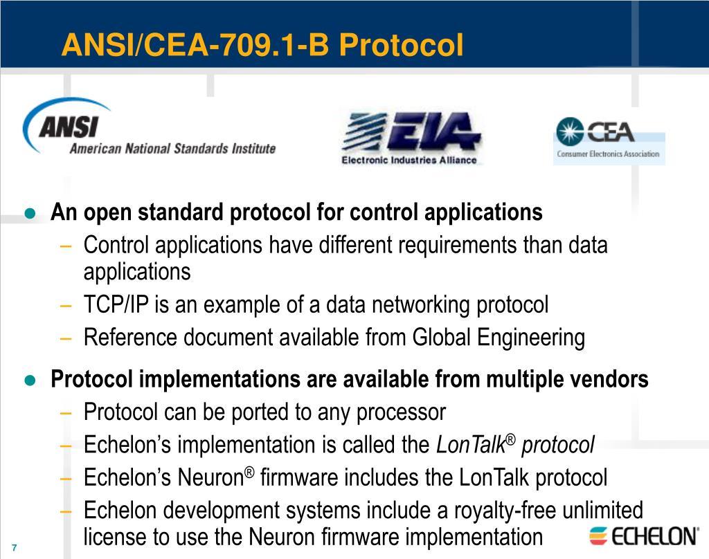 ANSI/CEA-709.1-B Protocol