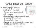 normal head up posture