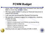 fcwm budget