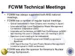 fcwm technical meetings