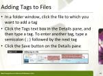 adding tags to files