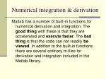 numerical integration derivation