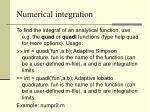 numerical integration128