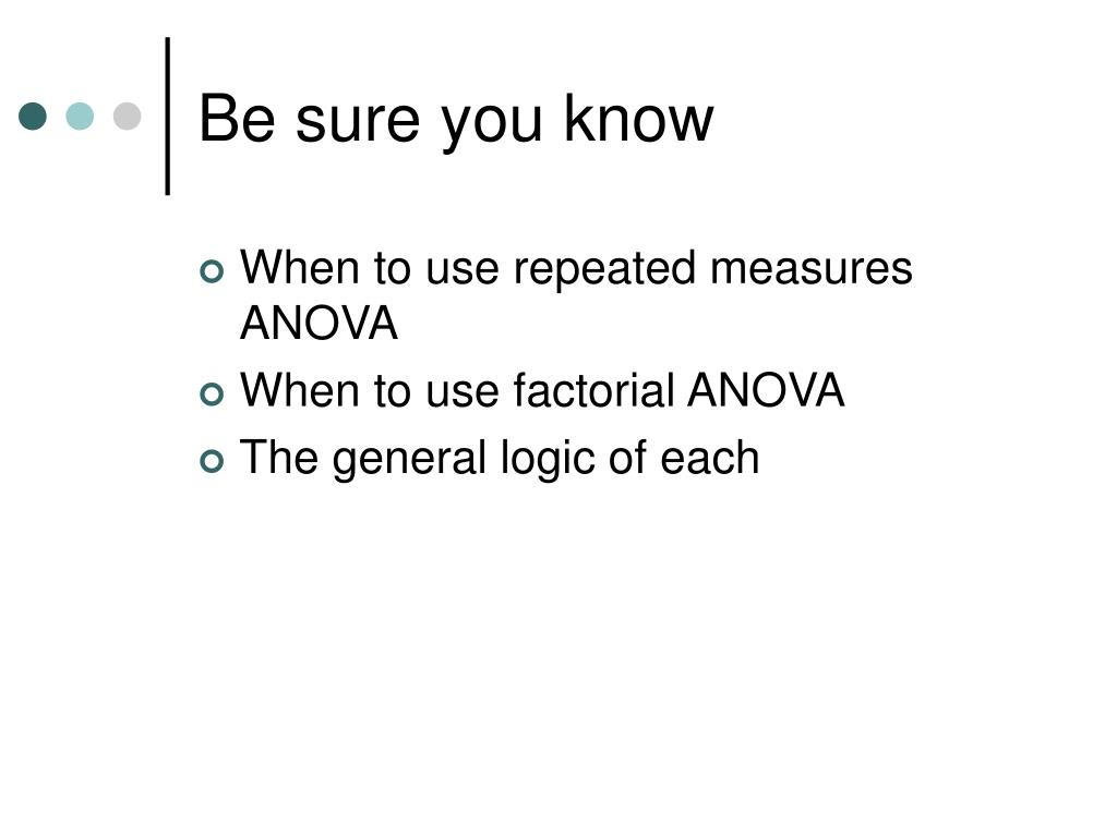 Be sure you know