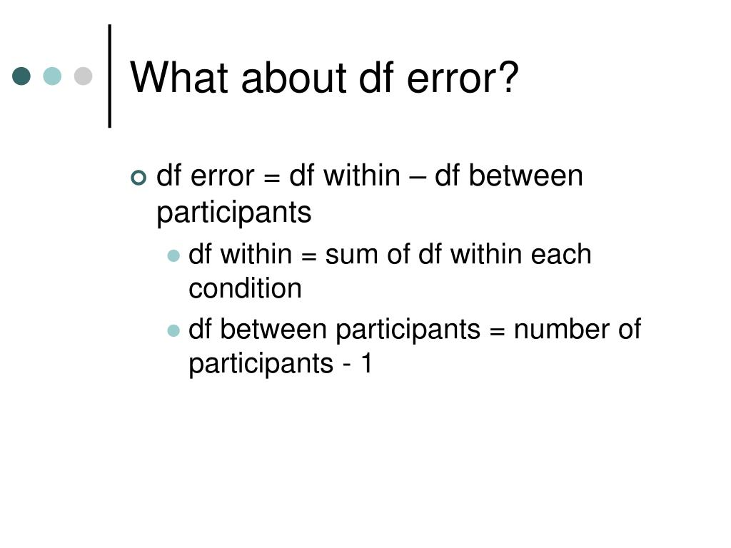 What about df error?