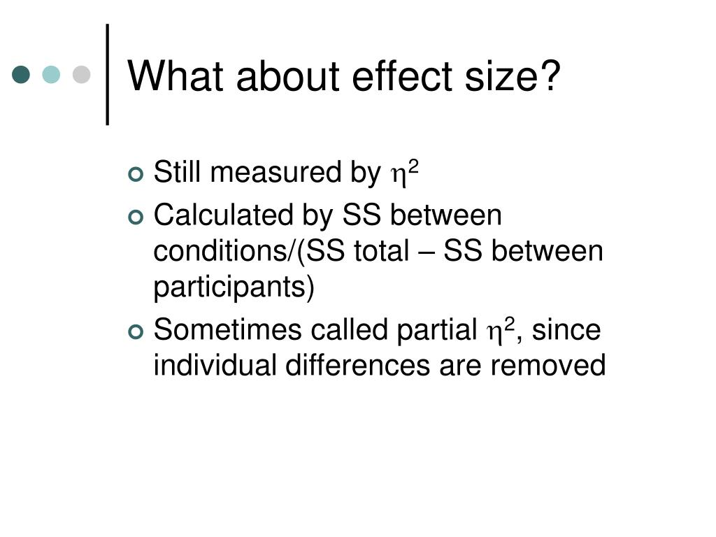 What about effect size?